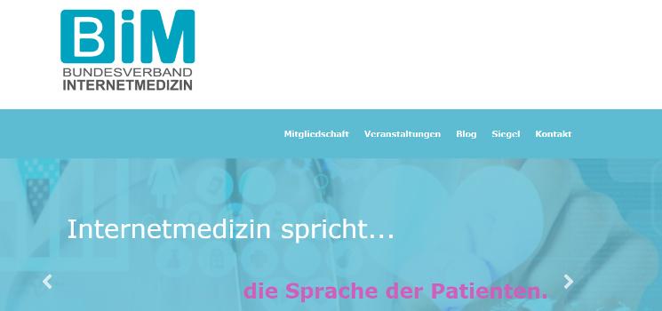 Mitgliedschaft im Bundesverband Internetmedizin e.V.