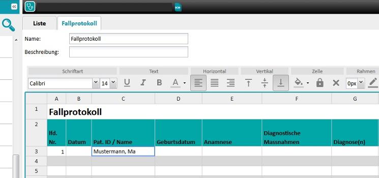 Bedientipp: Dokumente (Fallprotokoll, Gesundheitstagebuch, Medikationsplan etc.) erstellen, bearbeiten und teilen
