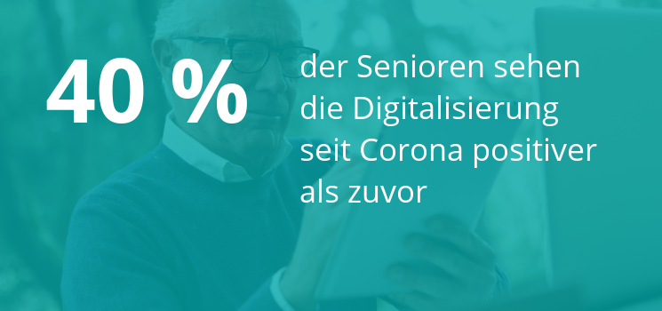 Fast Fact: 40 Prozent der Senioren stehen der Digitalisierung seit Corona positiver gegenüber