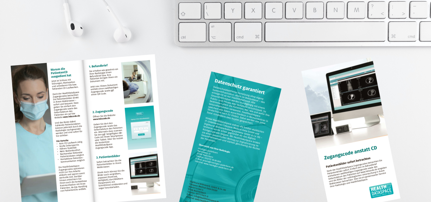 HealthDataSpace Flyer für Zuweiser
